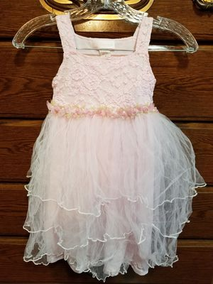 Pink Lace Pretty Rose Bud Tulle Flower Girl Dress for Sale in San Antonio, TX