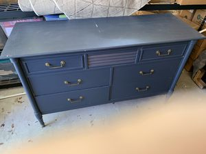 Navy Antique dresser and side table for Sale in Leander, TX