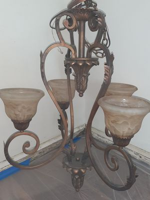 Large four light chandelier for Sale in Glen Mills, PA
