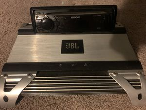 Amp and car deck for Sale in Denver, CO