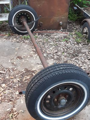Axle with tires for trailer for Sale in New Hope, MN