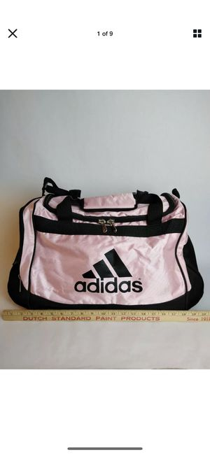 """Adidas Womens Gym Bag, Fresh Pak, Pink and Black, 21 """" Included Clear Plastic Hangers ~45 ct for Sale in Ithaca, NY"""