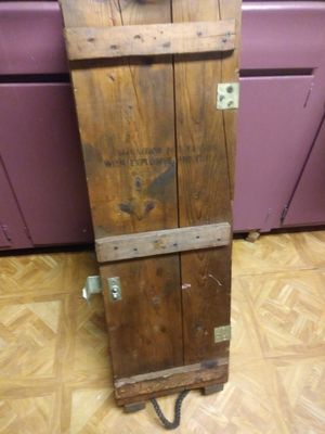 Wooden Ammo Crate For Cannons For Sale