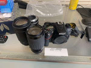 Nikon camera with 3 lens for Sale in Bakersfield, CA