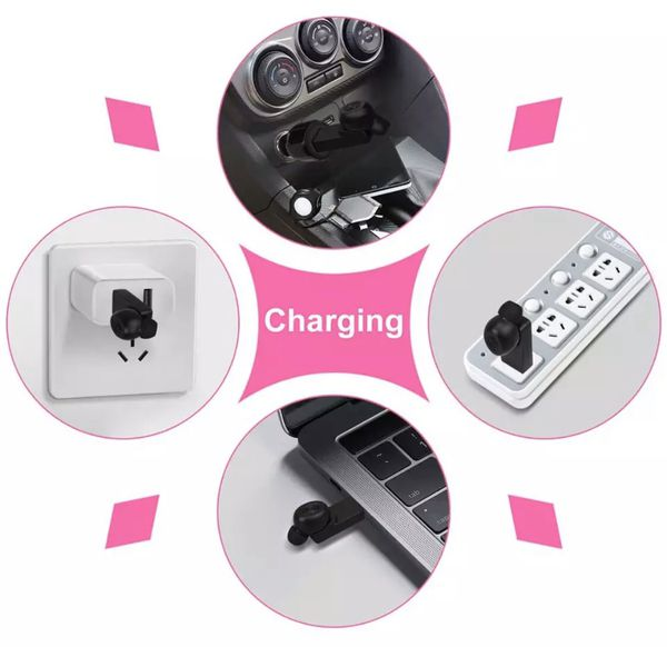 5.0 Headset USB Charging Mini Wireless Bluetooth Earphones for Car Sports Wireless Headphones with Mic for iPhone