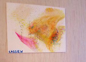 """Sandstorm"" 8x10 Gouache Canvas Panel for Sale in Charlottesville, VA"