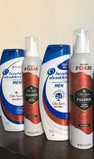 H&S men 2in1 old spice swagger and foamer body wash all for $15 for Sale in Perris, CA