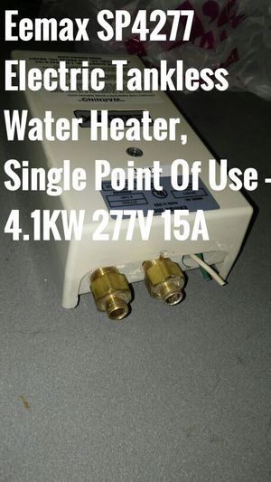 Eemax SP4277 Electric Tankless Water zoor Heater, Single Point Of Use - 4.1KW 277V 15A for Sale in Dallas, TX