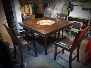 Dinner Table w. Built in Lazy Susan for Sale in Chino, CA