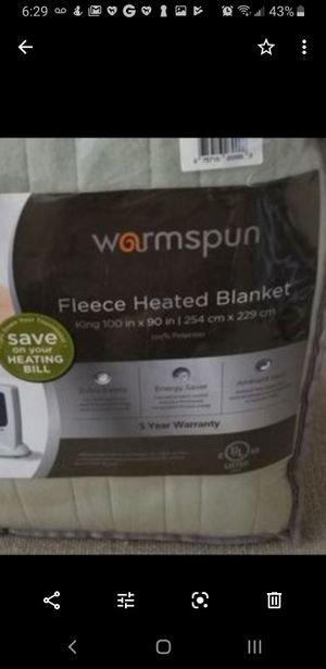 King size electric heated blanket for your bed or sofa for Sale in Orange, CA