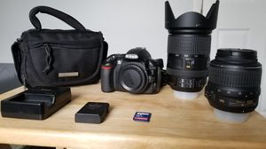 Nikon D3100 with 2 lenses for Sale in Chantilly, VA
