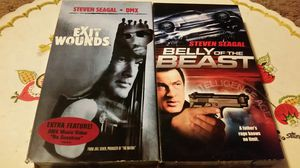 Steven Segal VHS Movies: Belly of the Beast and Exit Wounds for Sale in San Bernardino, CA