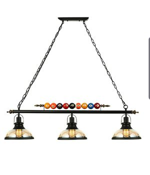 Light Hanging Pool Table Light Fixture for Sale in Torrance, CA