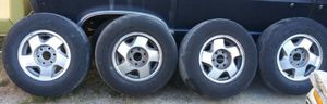 6 lugs 1999 chevy Tahoe tires and rims p235\75R16 for Sale in Tacoma, WA