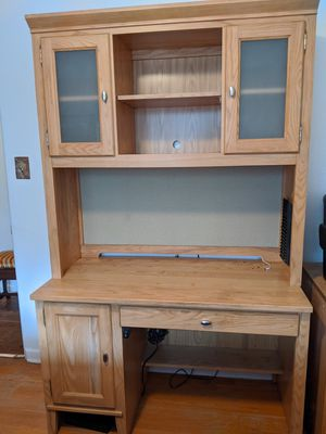 Kincaid solid Ash desk and hutch for Sale in Denver, CO