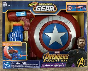 CAPTAIN AMERICA Nerf Assemble Gear BUILD & BLAST ROLE PLAY for Sale in Rancho Cucamonga, CA