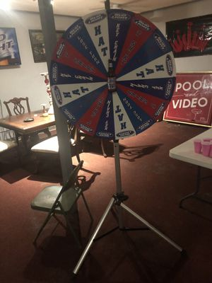 Bud light spinning prize wheel with tri pod for Sale in Hartford, IL