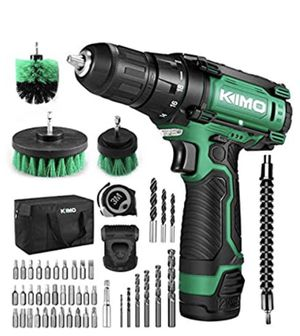 "Cordless Drill/Driver Kit, 48pcs Drill Set w/Lithium-Ion Battery Brushes Tape Measure - 12V Max Drill 280 In-lb Torque, 18+1 Metal Clutch, 3/8"" Keyle for Sale in Brooklyn, NY"