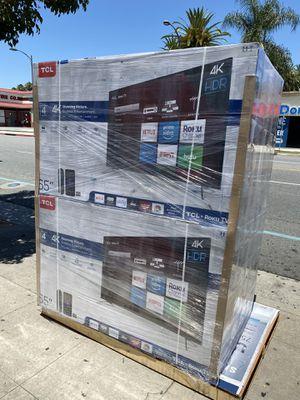 65 INCH TCL ROKU SMART 4K TVS BRAND NEW for Sale in South Pasadena, CA