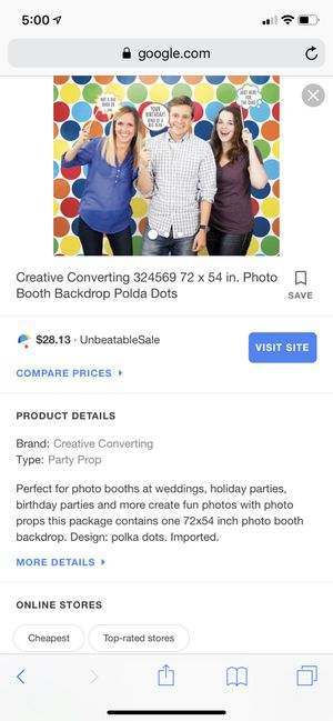 Polka dot photo backdrop for Sale in Bristol, VA