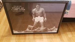 Muhammad Ali vs Sonny Liston wood picture frame for Sale in Odessa, FL