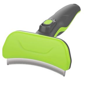 Pet Undercoat Deshedding Tool for Dogs and Cats, Professional Dog Deshedding Brush with Quick Self-Cleaning Button, Removes Loose Hair and Combats Dog for Sale in Houston, TX
