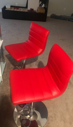 2 contemporary bar stools for Sale in Aldie, VA