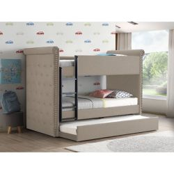 Leona Collection II Bunk Bed & Trundle $729.00 Hot Buy! In Stock! Free Delivery 🚚 for Sale in Ontario,  CA