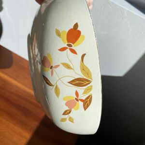 Vintage Halls Superior China Kitchenware Autumn Leaves Bowl Great Condition Boho Mid Century Home Decor for Sale in San Diego, CA