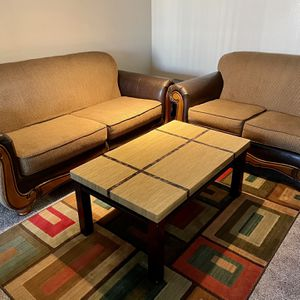 Sofa For Sale Including Table for Sale in Brighton, CO