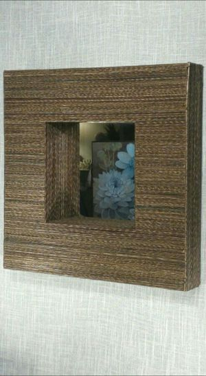 """Textured Woven Wall Mirror (Crate and Barrel)17""""x17""""x3"""" *PICKUP ONLY* home decor, household for Sale in Mesa, AZ"""
