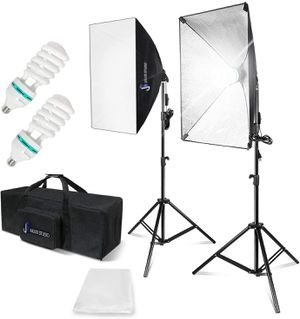 """(BRAND NEW) $80 Continuous Equipment Softbox 800W Lighting Kit with E27 Socket Light and 20"""" X 28"""" Reflectors and 85W 6500K Bulbs for Video Camera for Sale in Upland, CA"""