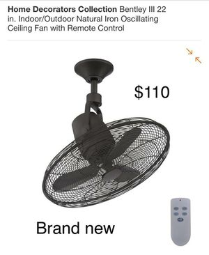 "Bentley III 22"" Indoor Outdoor Oscillating fan with remote for Sale in Bakersfield, CA"