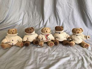 Stuffed Animal Bears in Sweaters for Sale in San Marcos, CA