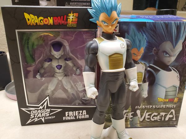 Dragonball z Vegeta statue, and frieza figure (dragonstars)