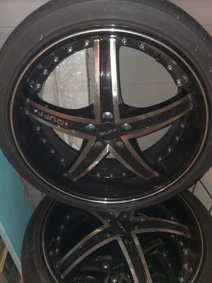 Wheels/Rims Manufactured by RUFF 20inch for Sale in Anniston, AL