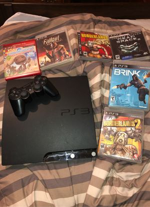 PS3 with 5 games and a controller ( EVERYTHING WORKS ) for Sale in Southbridge, MA