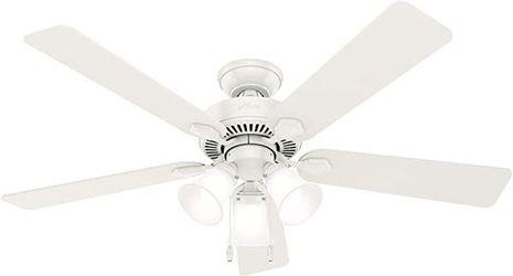 Swanson Ceiling Fan with LED Bowl Indoor Ventilador Lampara Abanico de Techo 52 in Hunter 50895 for Sale in Miami,  FL