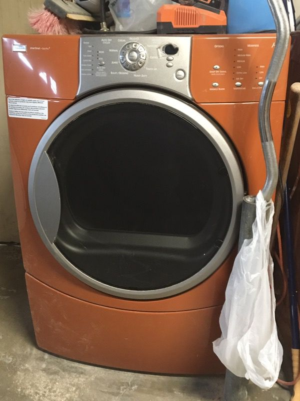 Kenmore Elite He4t Burnt Orange Washer And Dryer Combo For