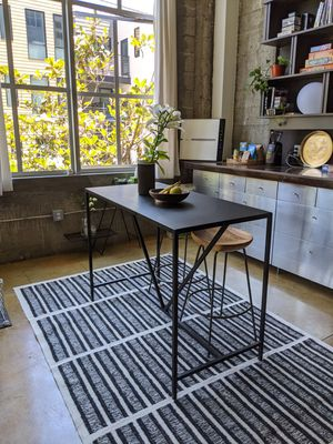 Slim metal counter table/kitchen island - indoor/outdoor - Room & Board for Sale in San Francisco, CA