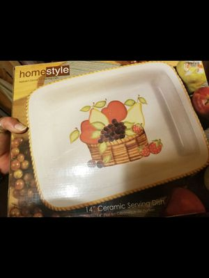 """14"""" FRUIT CERAMIC SERVING DISH for Sale in Greensburg, PA"""