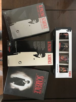 Scarface Collection DVD VHS and shot glasses for Sale in Spring Hill, FL