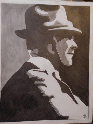 Tom Landry portrait art for Sale in Lawton, OK