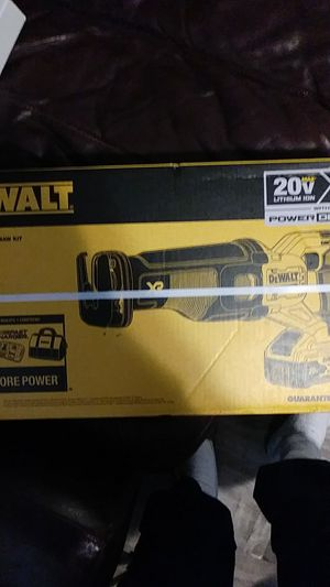 Dewalt 20 v xr with fast charger and 8 ah battery reciprocating saw with new power detect technology for Sale in Pomona, CA