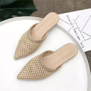 Summer flat slippers - weaved patern for Sale in Nashville, TN