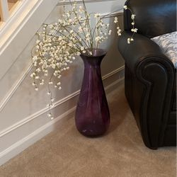 Large Purple Vase And Flowers for Sale in Gig Harbor,  WA