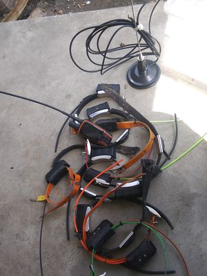 Dog box 10 tracking collars and charger with antenna for Sale in Nathalie, VA