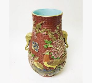 Chinese Antique Qianlong Marked Large Porcelain Vase for Sale in Rowland Heights, CA