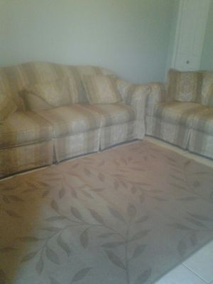 Big sofa and love seat with free carpet for Sale in Sebring, FL