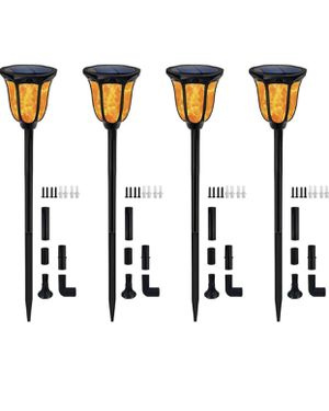 Solar Torch Lights 4pack for Sale in Colonial Heights, VA